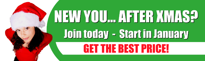 XMAS OFFERS - Join now and start in January for the best price