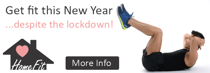 Get fit this New Year ...despite the lockdown. Home Fit membership. More Info