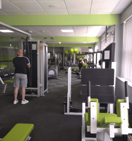 Interior of The Fitness Bank gym including a variety of exercise equipment