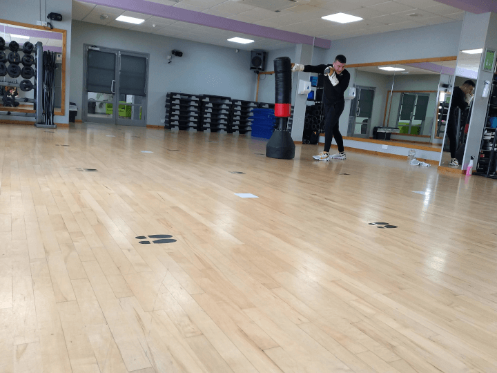 Class studio and personal training space at The Fitness Bank, South Wigston, Leicester